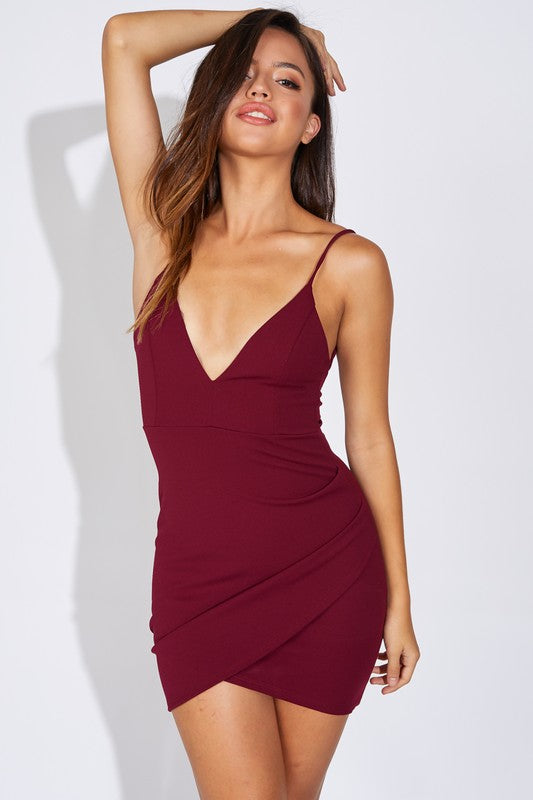 Love Affair Wine Mini Dress