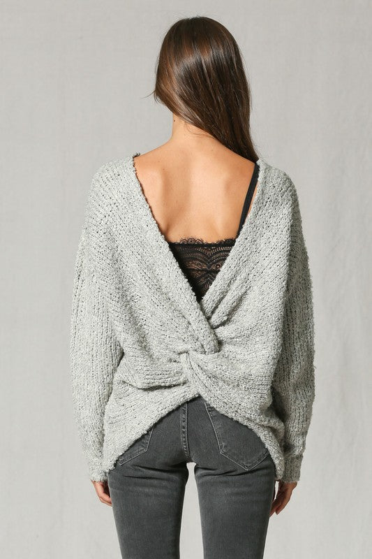 TY, Next Light Gray Wool Sweater