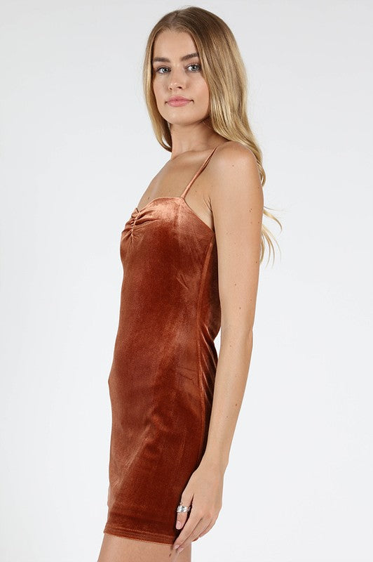 Sienna Velvet Bodycon Dress