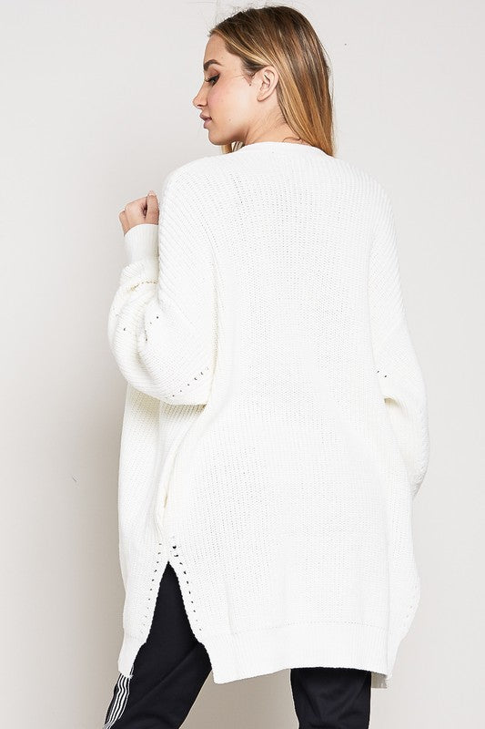 So Cozy Oversized Cream Cardigan