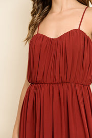 Red About You Convertible Maxi Dress