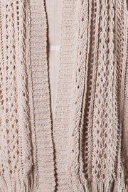 Girl Next Door Beige Crochet Knit