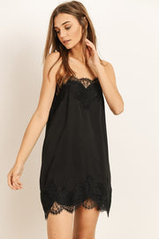 Dahlia Black Lace Slip Dress