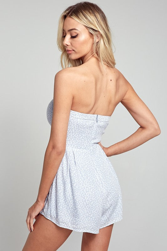 Pretty Please Front Tie Romper