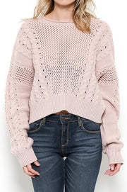 Make Me Blush Cropped Knit Sweater