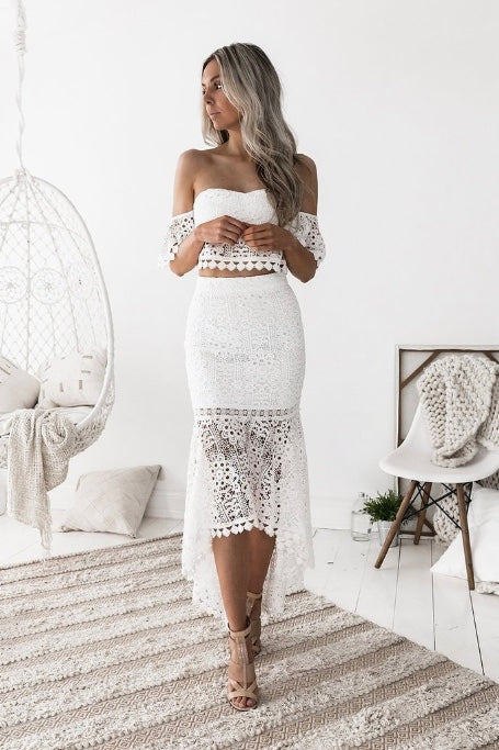 Yours Truly White Lace Set