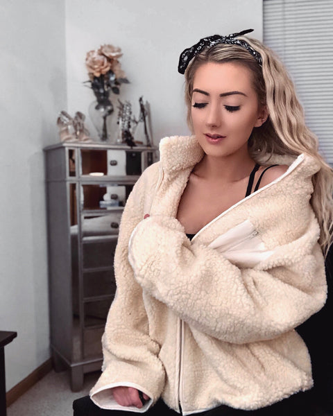 Self Love Oversized Teddy Jacket