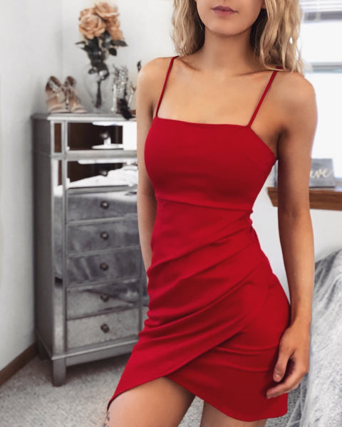 Go Getter Red Wrap Dress