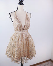 Glitz and Glam Glitter Teacup Dress