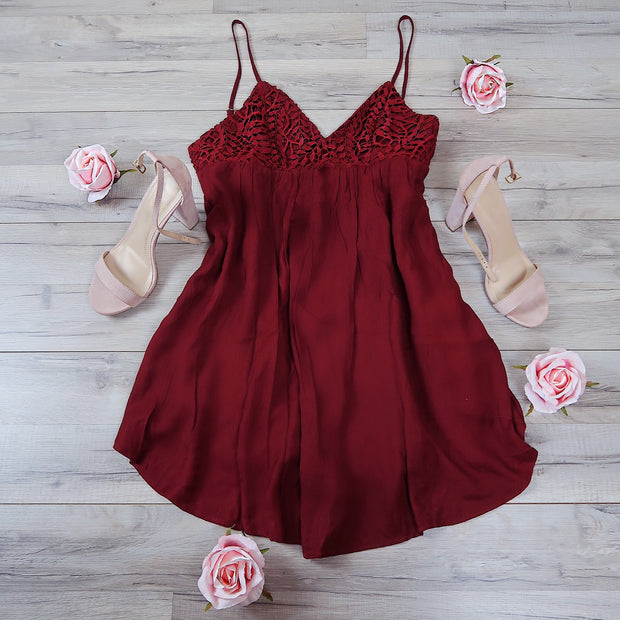 On Wisconsin Red Babydoll Dress