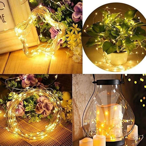 2M String Fairy Light 20 LED Battery Operated Xmas Lights Party Wedding Lamp Fancy Decoration - BeZONED