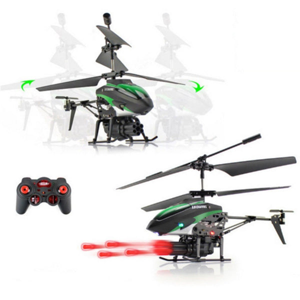 3.5CH RC Helicopter Missile Launching Fly Helicogyro Double Motor +Built-in Gyro - BeZONED