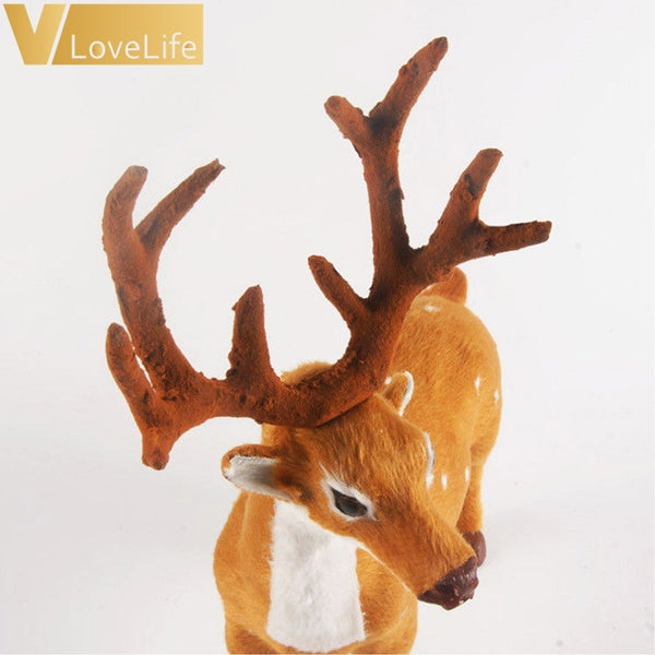 1pc Plush Christmas Reindeer Xmas Elk Plush Simulation New Year Gift Christmas Decorations - BeZONED