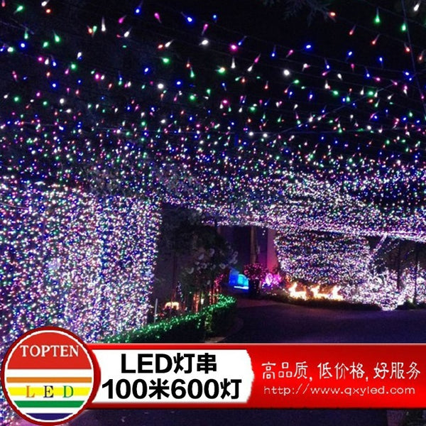 600 leds 100M flasher string Lighting for outdoor/ indoor Party christmas tree - BeZONED