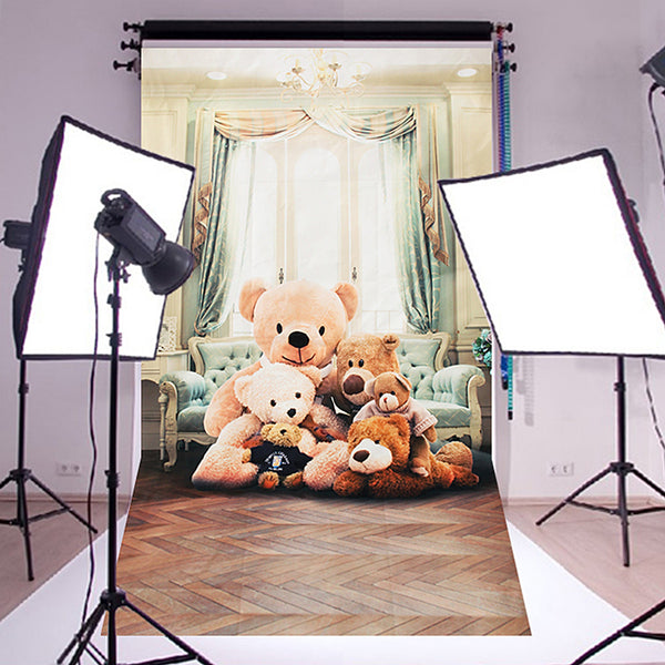 3x5ft Bear Vinyl Photography Backdrop Background Studio Baby Child Photo Props - BeZONED