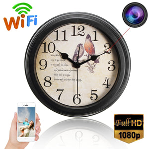 1080P Wireless WIFI IP Full HD Hidden Camera Wall Clock Video Recorder Nanny Cam - BeZONED