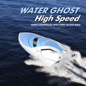 2.4G Remote Control High Speed RC Boat Outdoor Water Boat +2 LED Batteries - BeZONED