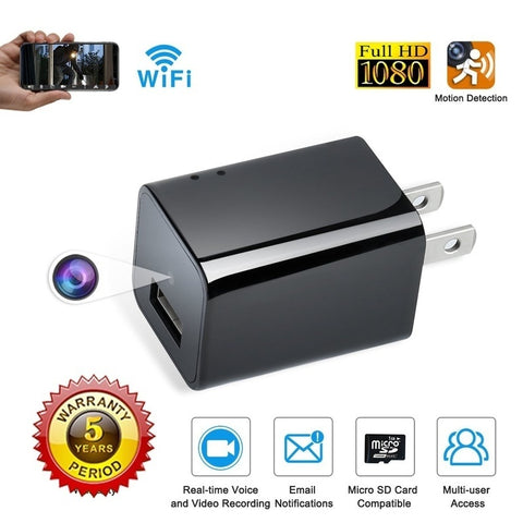 Spy Camera USB Phone Charger HD Hidden Camera WIFI Wireless Wall Plug USB Charger