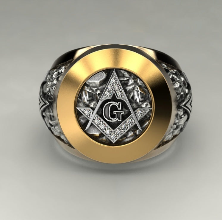 2018 New Fashion 316L Stainless Steel Masonic Ring Men's Masonic Symbol G Templars Masonic - BeZONED