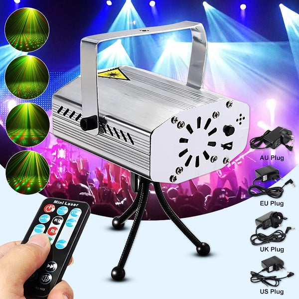 4colors Mini Auto Music Voice Control Rng Dj Disco Party Led Laser Stage Light Lamp Projector