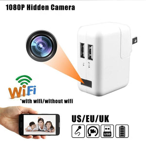 Mini Spy Hidden Camera WIFI 1080P Hidden Spy Camera Wall Charger Wireless USB Nanny Cam US/EU/UK PLUG