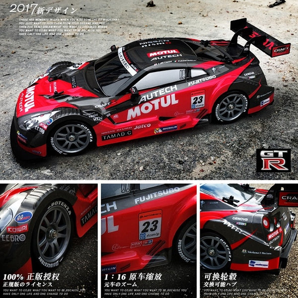 2.4G 4WD Drift Stunt Racing Car High Speed RC Drift Car (GTR, RC-F) - BeZONED