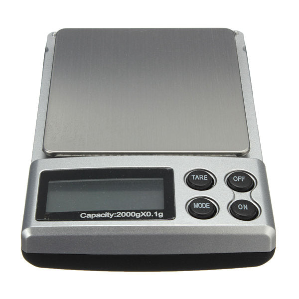 2000g x 0.1g Electronic Balance Gram Digital Jewelry Pocket Weighing Scale - BeZONED