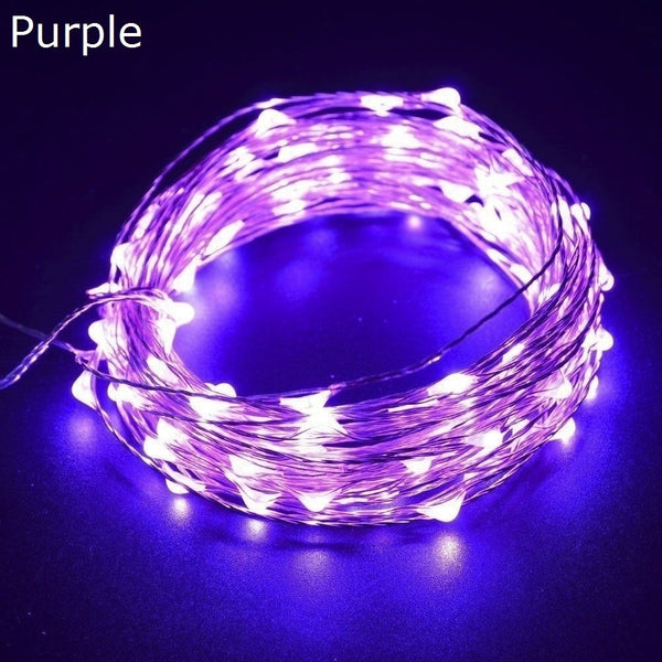 2m 20LED /3m 30LED/5m 50LED/10m 100LED Battery Powered Led String Fairy Lights - BeZONED