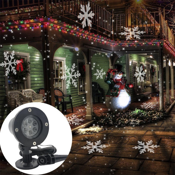 2018 Christmas Decoration LED Snowflake Projector Light White And Multicolor Snowflake - BeZONED