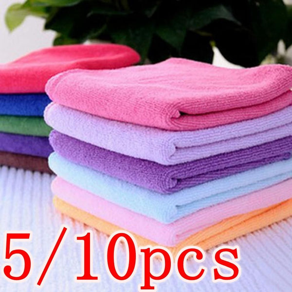 5/10pcs Microfibre Towels Soothing Face/Hand Towel/Cleaning Cotton Towel free just pay shipping - BeZONED