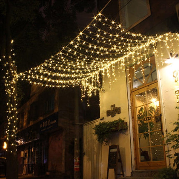 220V EU Plug Net Christmas Lights Fishing Net Lights Outdoor Waterproof and Decorative - BeZONED