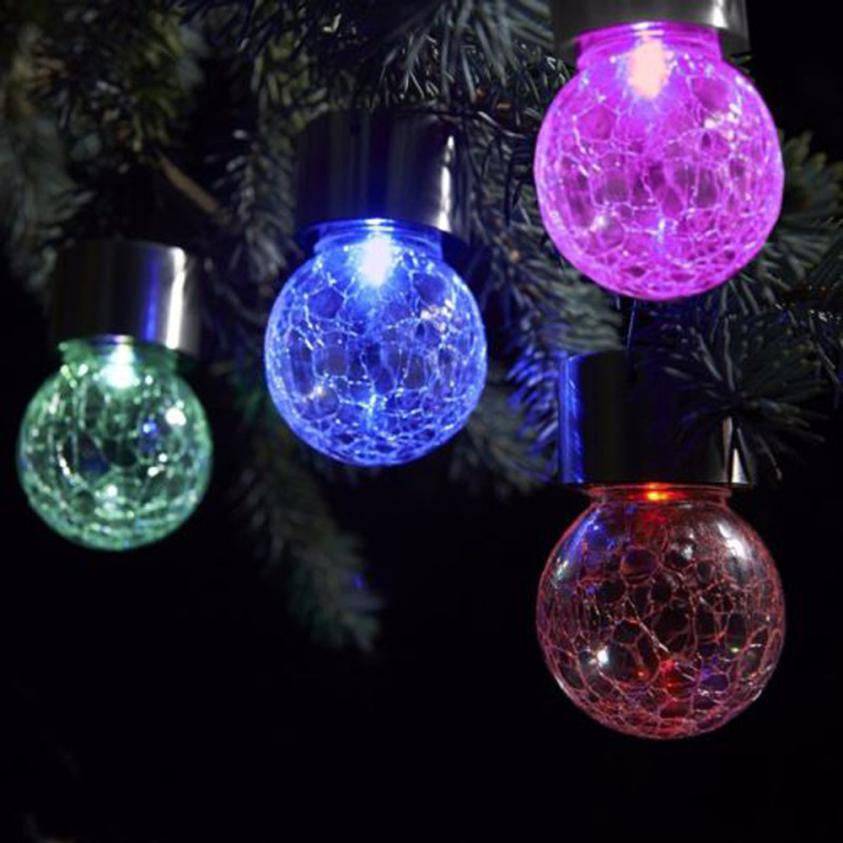 2019 Christmas Tree Ball led lights christmas decorations Outdoor Garden Camping Hanging LED Round Ball Lights Christmas