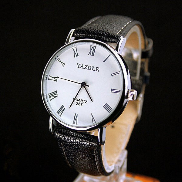 Leather Yazole Quartz Watch For Men - BeZONED