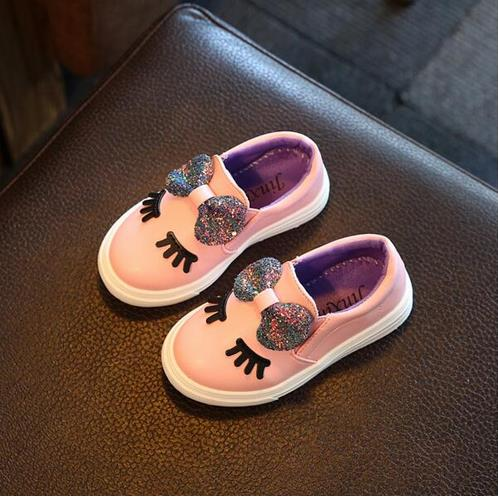 Girls sneakers spring 2018 new toddler children's baby white bowknot glitter casual soft flat shoes kids chaussure enfant 908 - BeZONED