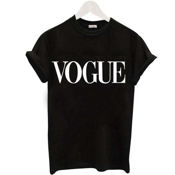2018 Fashion Summer T Shirt Women VOGUE Printed T-shirt Women Tops Tee Shirt Femme - BeZONED