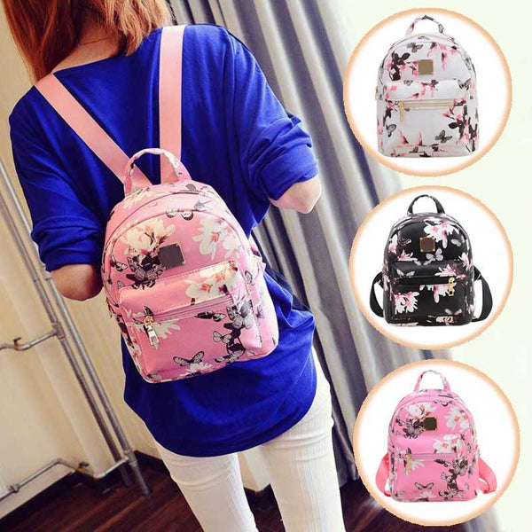 Butterfly Flower Small Backpack - BeZONED