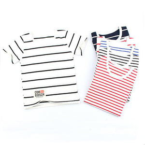 2017 Summer Striped Kids t-shirts Baby Girls Short Sleeve Boys Tees Cotton Children T shirts - BeZONED