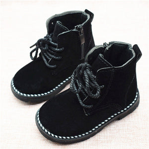 Size 21-30 Fashion 2018 Autumn Boys Baby Boots For Girls Children Martin Boots Kids Ankle