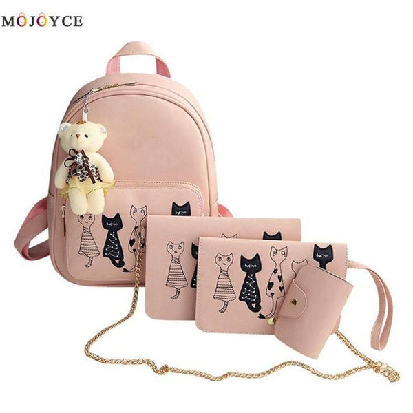 Pink 4 Pieces/Set Small Backpacks - BeZONED