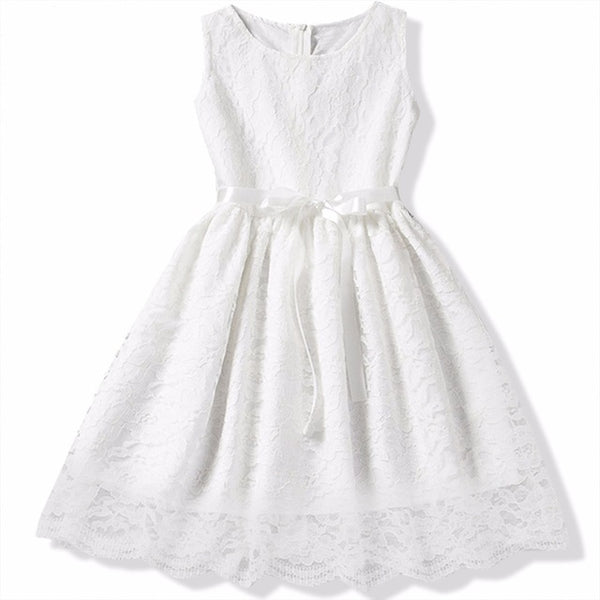 Kids Girl Ball Gown Dress NEW White Toddler Girl Summer Lace Dress 6 7 8 Year Princess