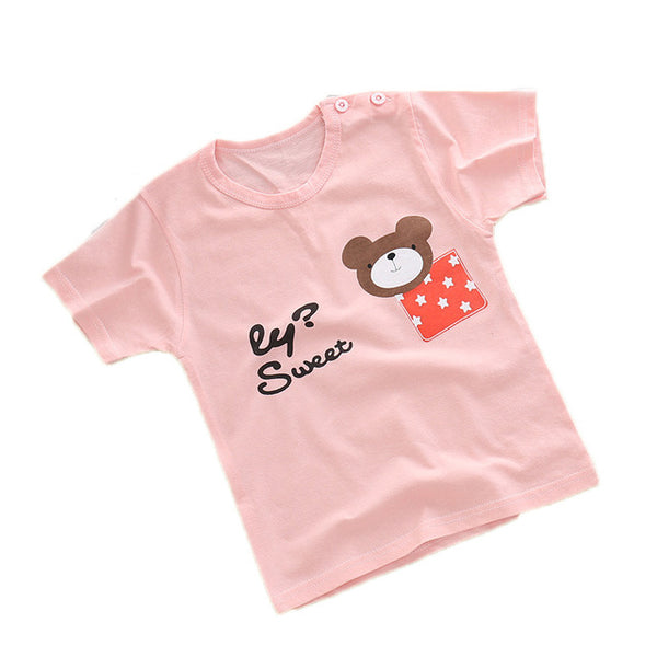 ideacherry Brand Children's Wear Children's Short-Sleeved T-shirt Baby Boy Summer Clothes