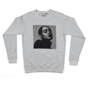 face sweatshirt / grey