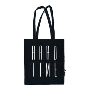 hard time tote bag / black