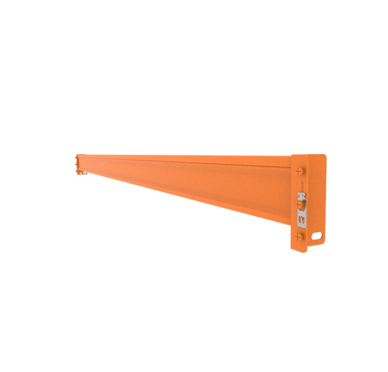 Pallet racking beams, shelves, steel shelf levels, safety clips, teardrop style warehouse racking.