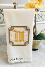 Load image into Gallery viewer, monogram guest towel