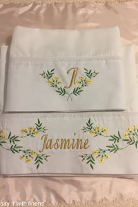 personalized bed sheet set