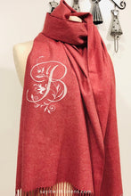 Load image into Gallery viewer, monogrammed scarf
