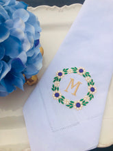 Load image into Gallery viewer, monogrammed wedding napkins