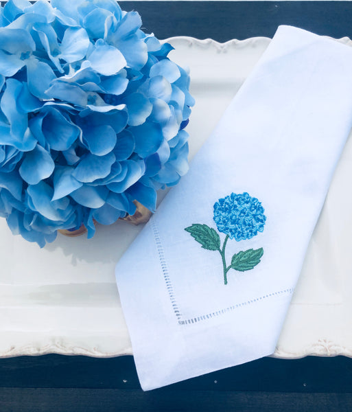 flower embroidered napkin