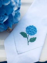 Load image into Gallery viewer, hydrangea linen napkin